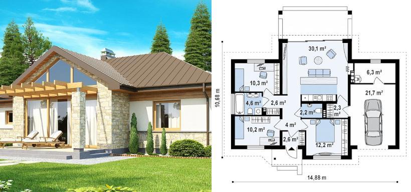 проект красивого газобетонного дома