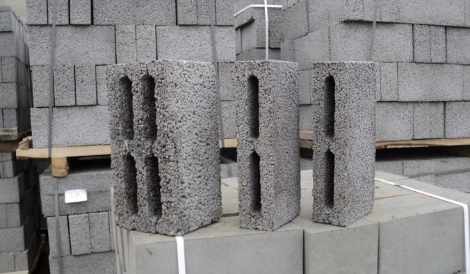 разные типы керамзитобетонных блоков