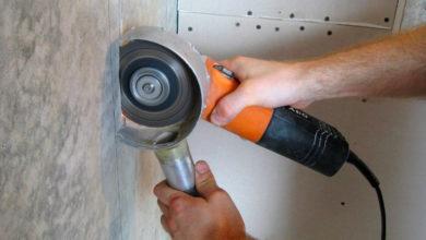 штробление бетонных стен штроборезом