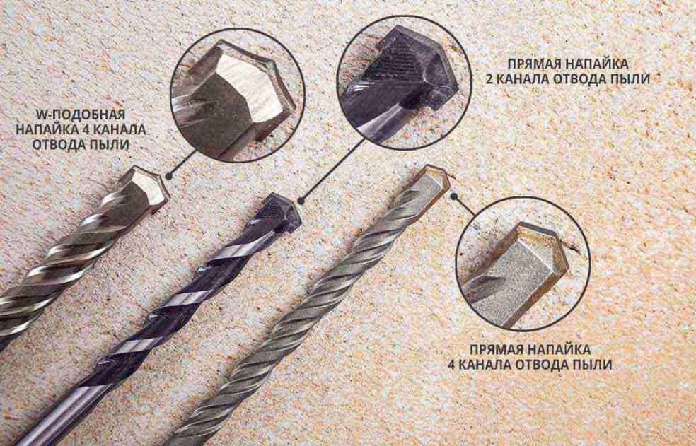 устройство сверла по бетону для дрели