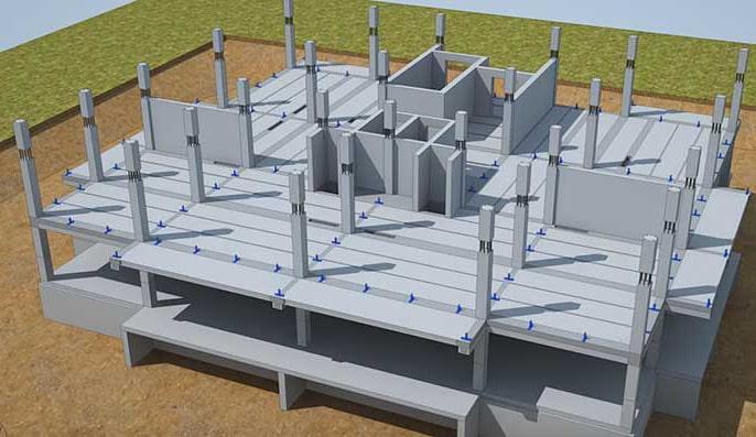 Железобетонные конструкции частных домов Преимущества железобетонных колонн