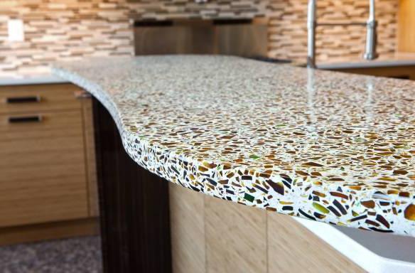 бетон с крошкой столешница