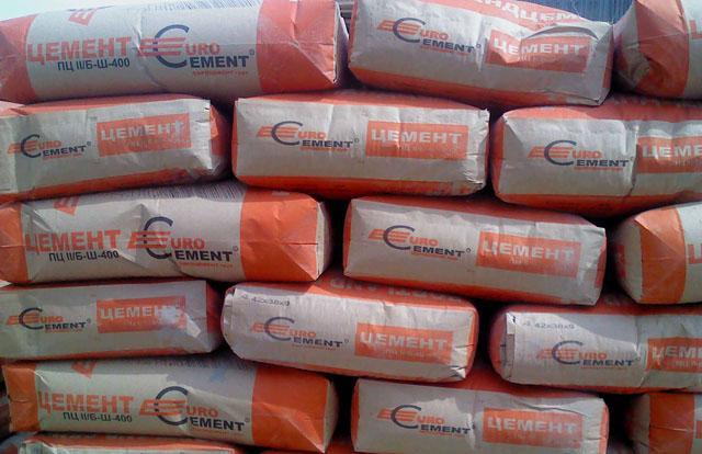 готовый цемент с производства
