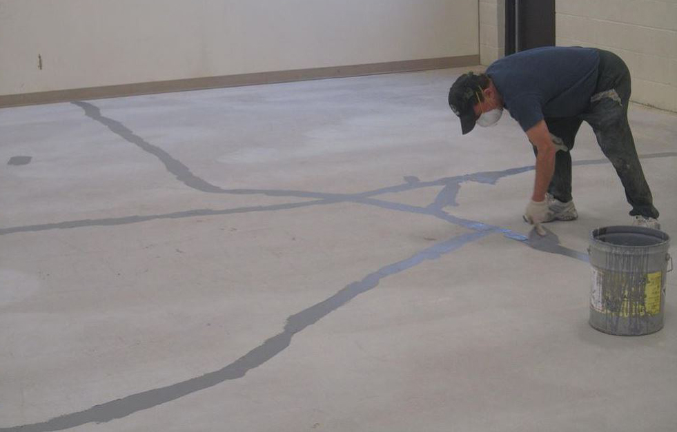 как устраняются трещины на бетоне