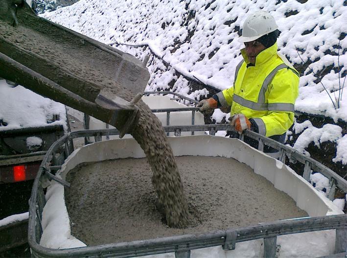 как заливать бетон в мороз