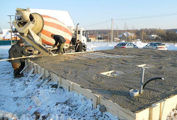 как заливать зимой бетон
