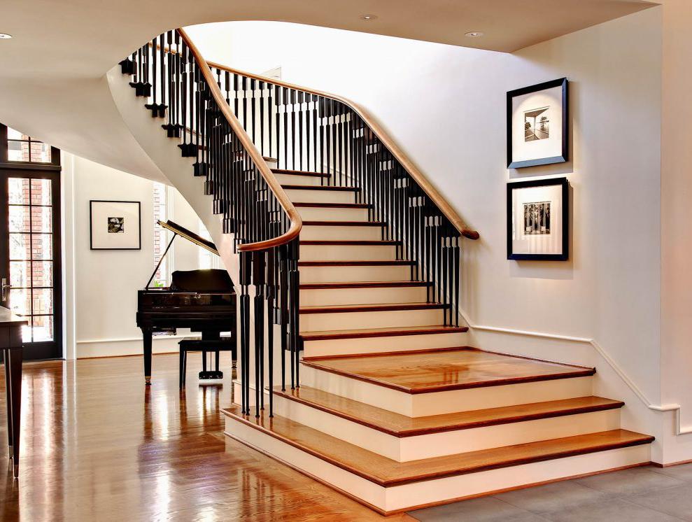 лучшие варианты отделки лестницы