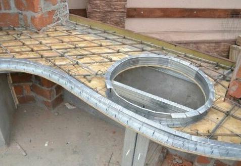 опалубка для заливки бетонной столешницы
