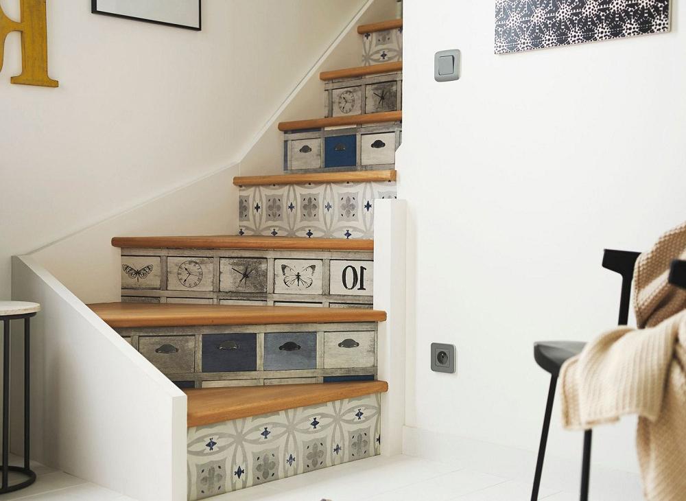 оригинальная отделки бетонной лестницы