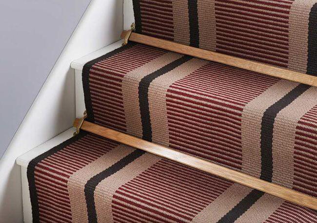 отделка бетонной лестницы ковролином