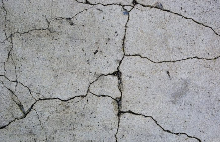 покрытие бетона трещинами из-за мороза