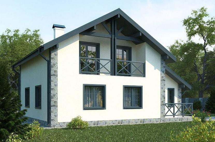 пример дома из газобетона