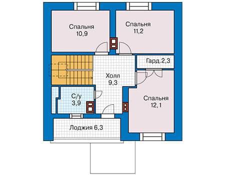 пример проекта дома из пенобетонного блока