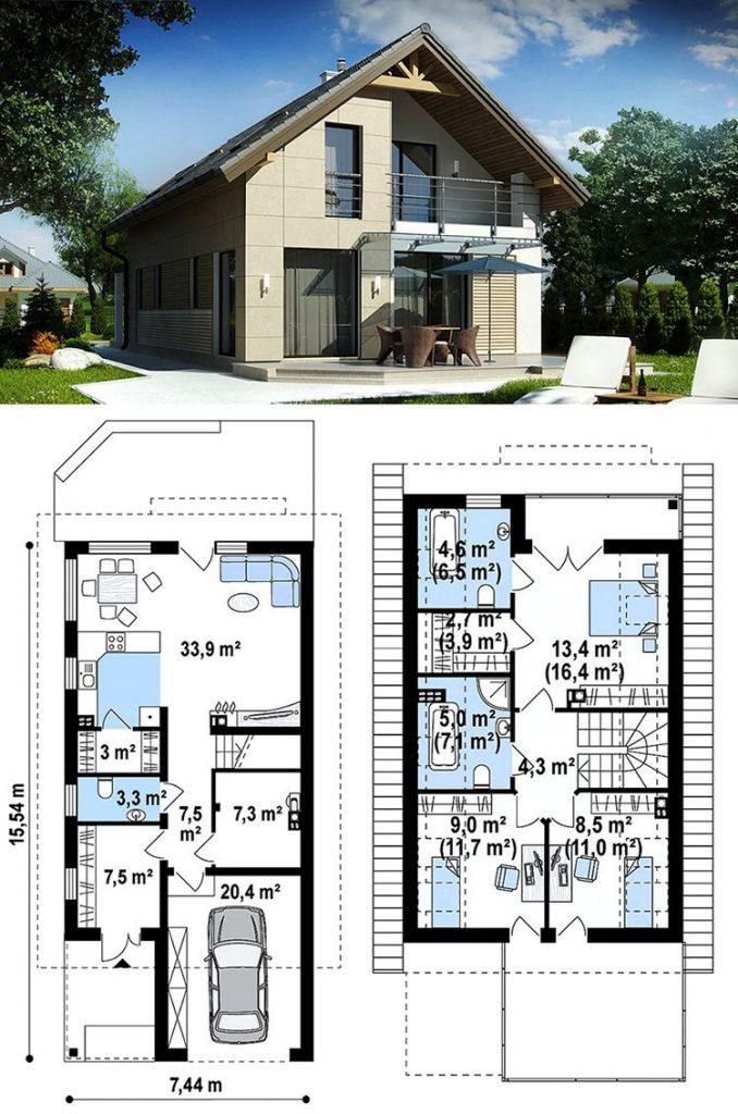 проект газобетонного дома