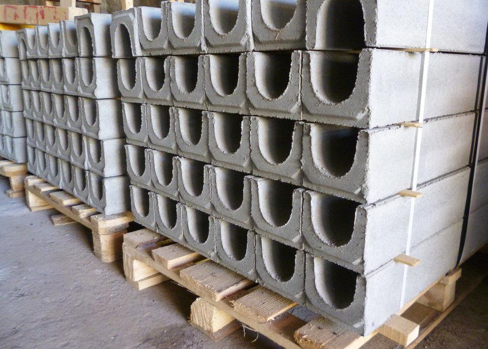 разнообразие бетонных лотков