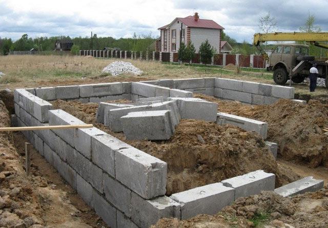 создание фундамента для дома из газобетона