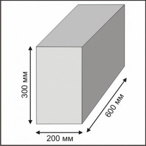 стандартный размер газоблока