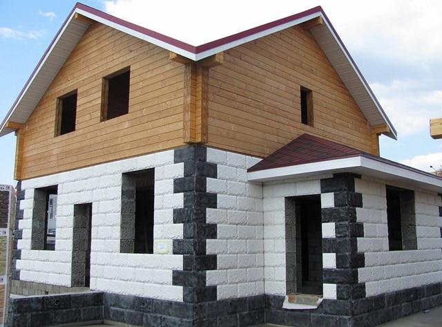 строительство двухэтажного дома из газобетона