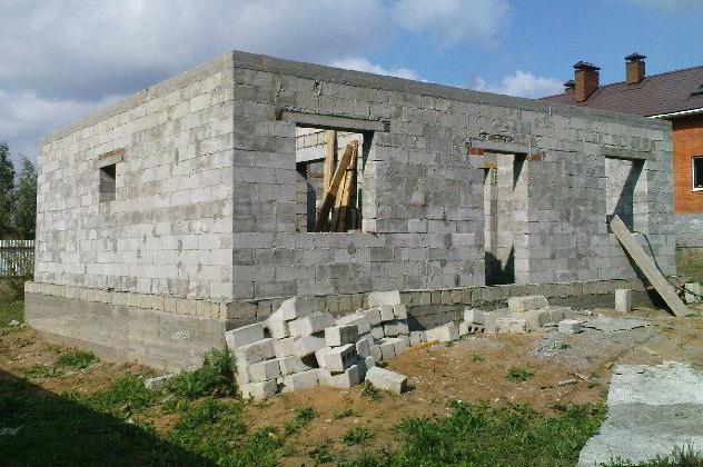 строительство одноэтажного пеноблочного дома