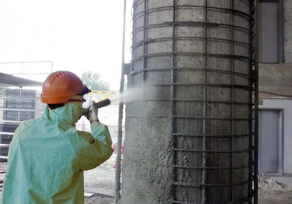 усиление бетона торкретированием