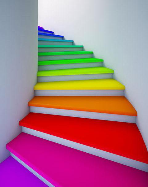 варианты окраски лестницы