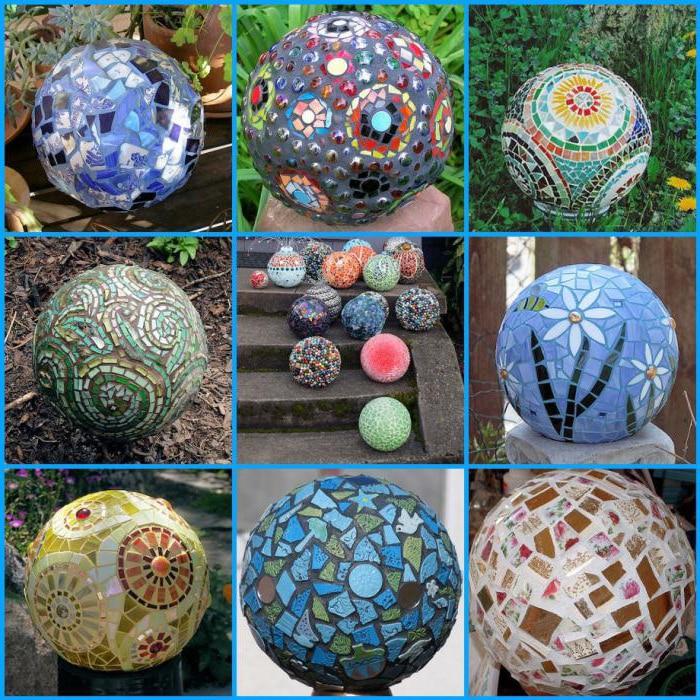 яркие бетонные шары