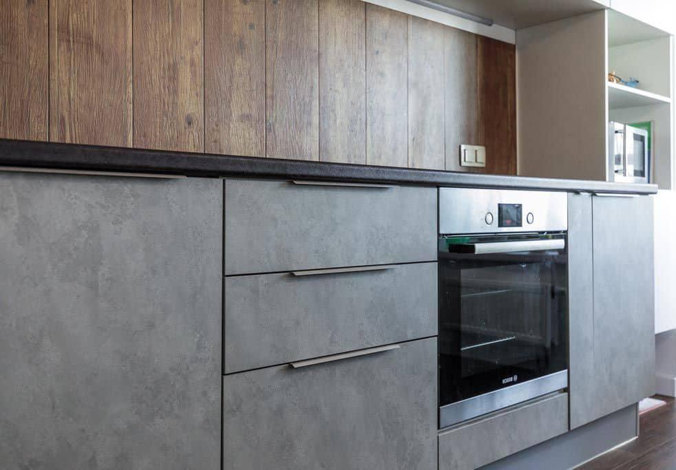 бетонный фасад кухни