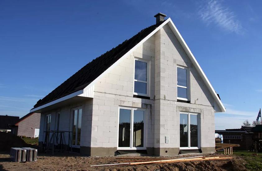 готовый дом из газобетона