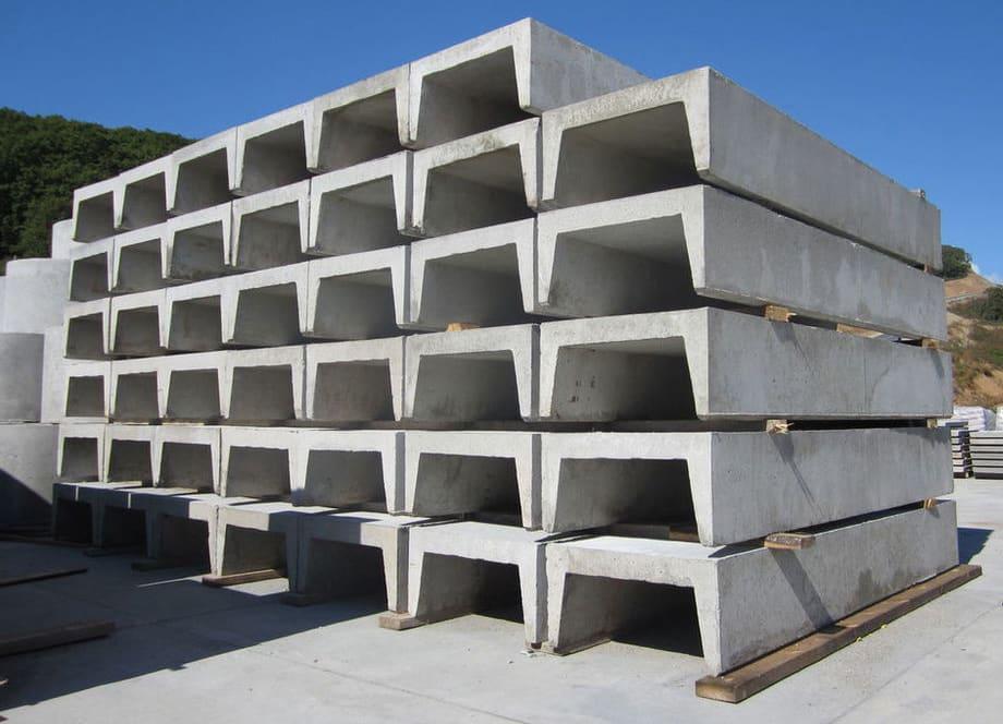 хранение водоотводных бетонных лотков