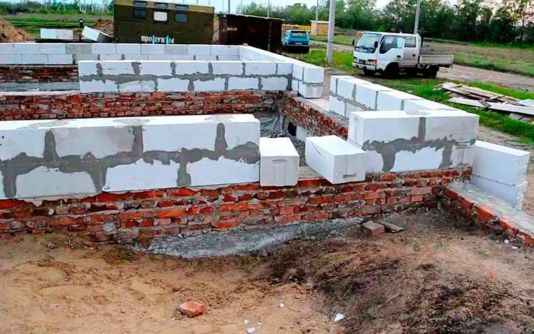 начало строительства дома из газобетона
