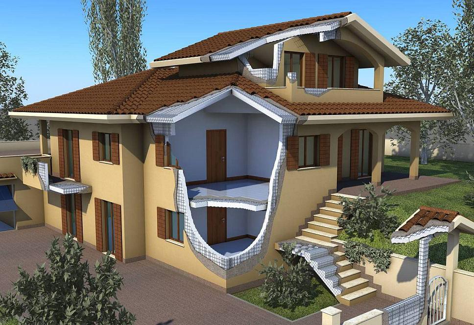 пример дома каркасного строительства