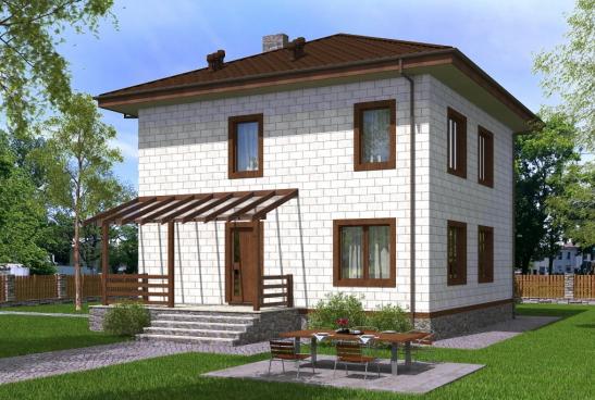 проект двухэтажного газобетонного дома