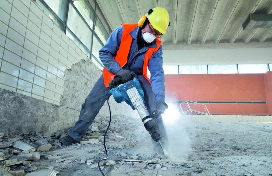 удаление старого слоя бетона