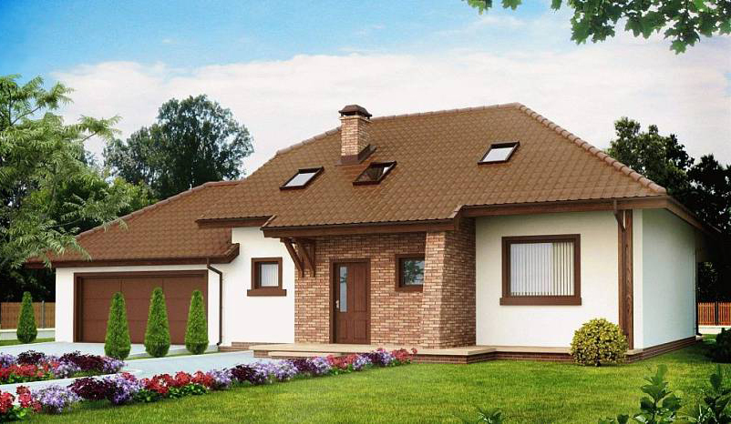 дом одноэтажный с гаражом до 150