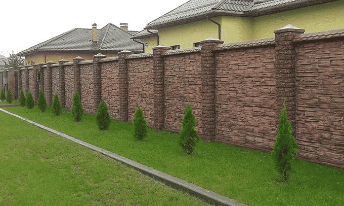 еврозаборы из бетона
