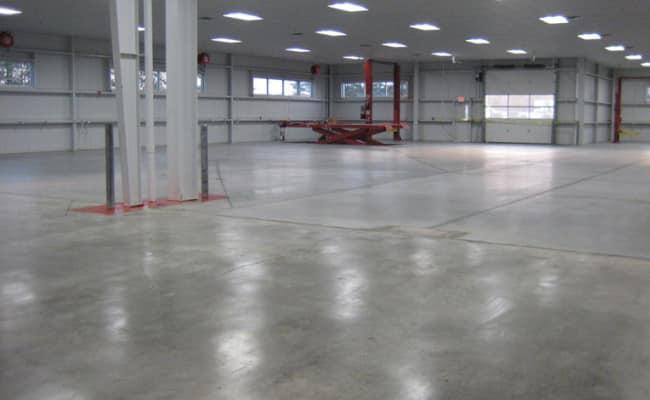 готовый бетонный пол промышленного типа