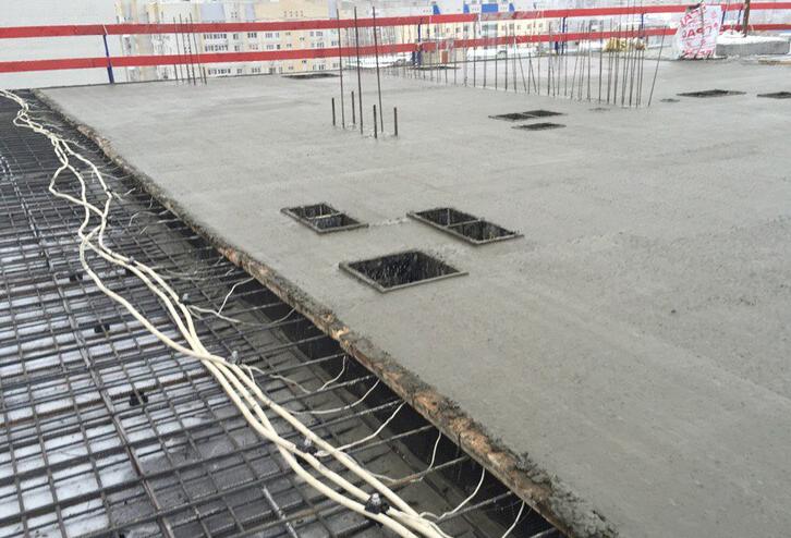 как измерить температуру бетона