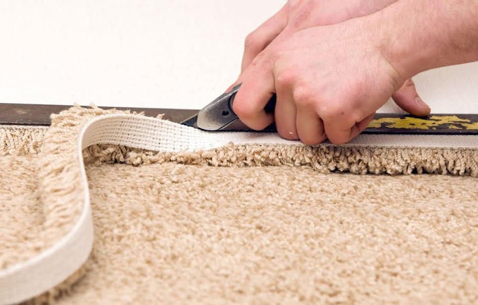 как крепить подложку под ковролин