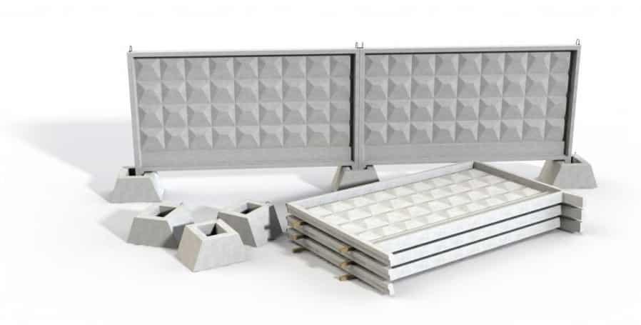 как правильно монтируется бетонный забор