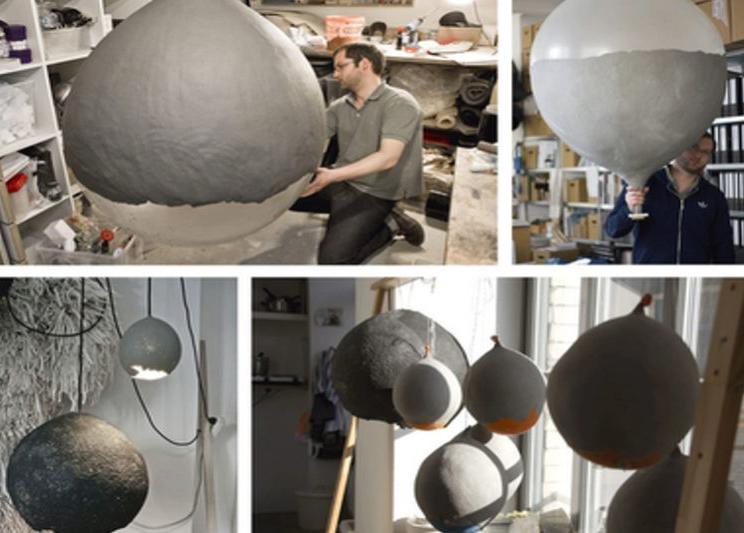 как сделать светильник из шара