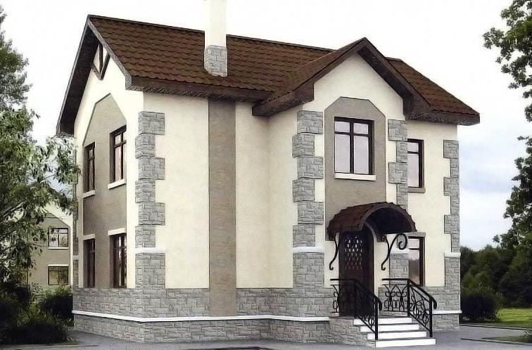 красивые проекты домов из арболита