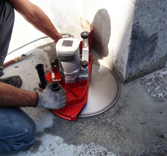 мокрая резка ручной стенорезной машиноц