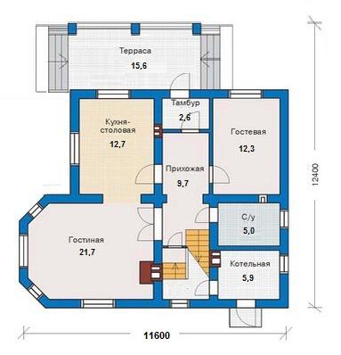 пример дома из пеноблоков до 150 метров