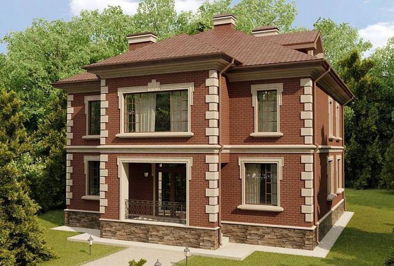 проект двухэтажного дома из арболита