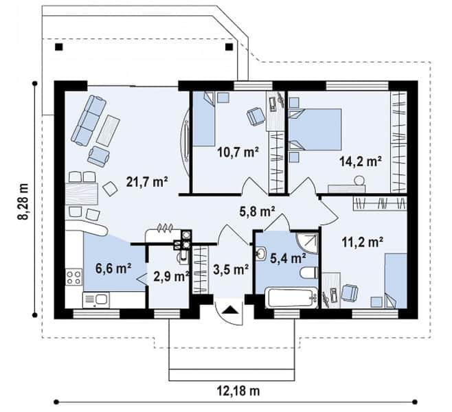 проект и стоимость дома из арболита