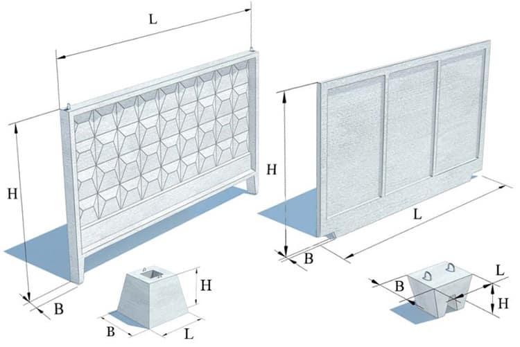 виды плит из бетона