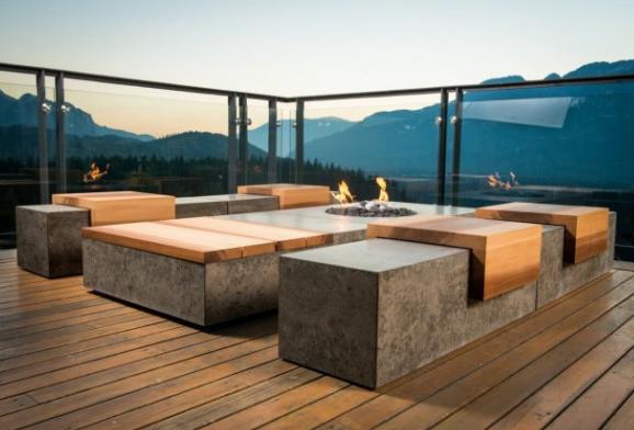 бетонные элементы мебели
