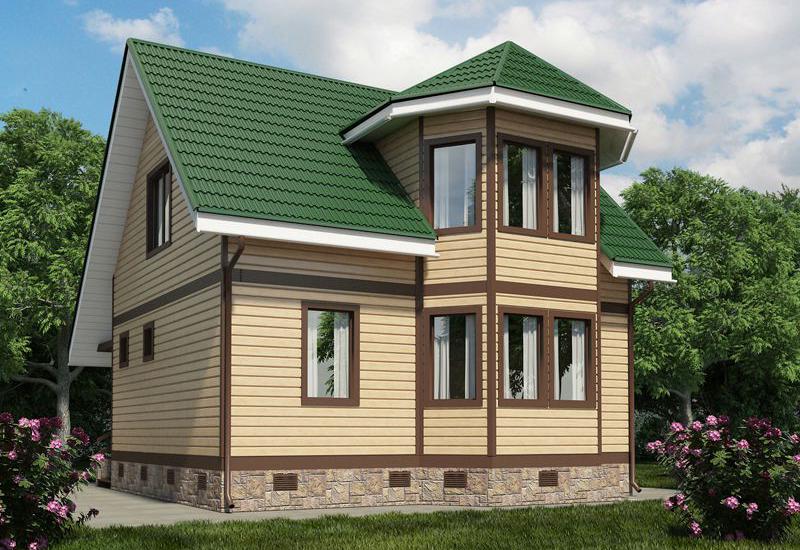 газобетонный дом с мансардой
