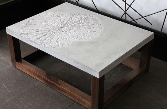 как сделать бетонный журнальный столик