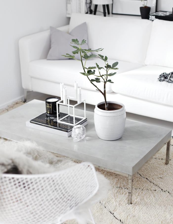 как сделать журнальный стол из бетона
